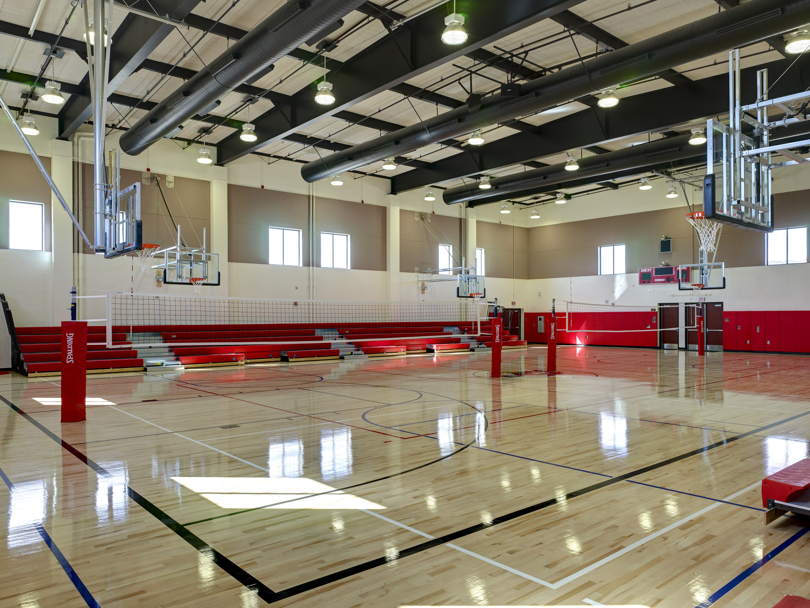 Flewelling moody tropico middle school for Sport court cost per square foot